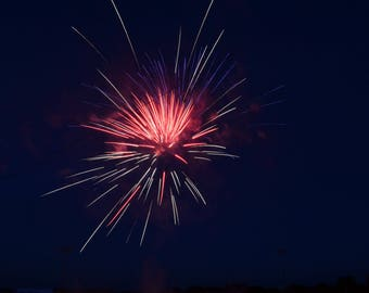 Red and Blue Single Firework