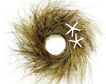 Coastal Beach Wreath-MINI Window Wreath-STARFISH Twig Wreath-Coastal Wreath-Starfish Decor-Beach House Wreath-Coastal Home Decor-Gifts