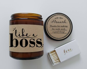 Boss Gift Appreciation Gift Thank You Gift Boss Lady Candle Gift Like a Boss Thanks Gift Thank You Candle  Thank You Present Gift for Boss