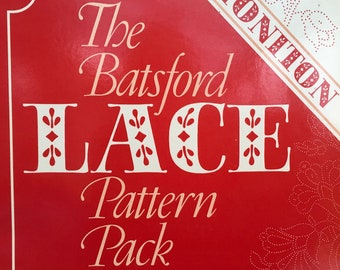 The Batsford Lace pattern Pack Honiton Lace by Elsie Luxton - 32 Work Cards 125 Prickings