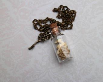 vial necklace pretty little white Bunny