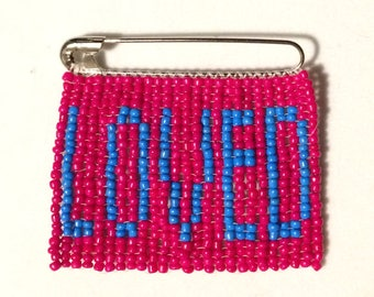 Loved Beaded Safety Pin