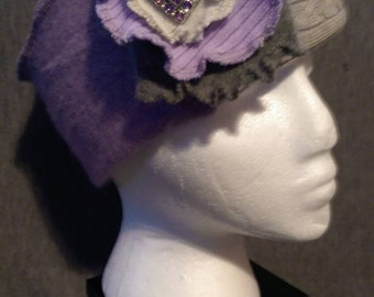 Lilac Winter Hat with Bling