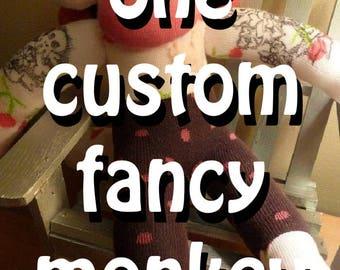 Custom Made - FANCY Sockmonkey