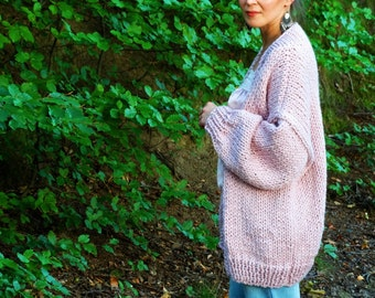 Chunky sweater | Oversized Cardigan | Chunky Knit Cardigan | Strickjacke | Oversized Sweater | Open Style Cardigan | Gift For Her | Strick