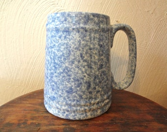 Stoneware Style Blue and White Speckle Coffee/Tea Mug