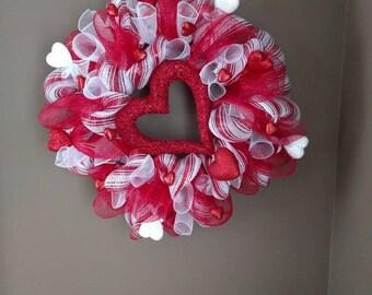 Valentine's Day swag, lighted, Valentine's day decoration