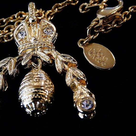 """Vintage Joan Rivers Charm Holder Necklace / Joan Rivers Opera Length 30"""" Necklace / Designer Fashion Wedding"""