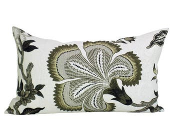 Hothouse Flowers lumbar pillow cover in Dusk