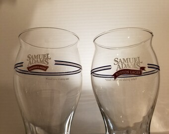 Set of 2 Samuel Adams Glasses, Glass. Beer, Bar, Man Cave
