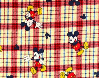 Disney's Mickey Mouse Plaid Cotton from Springs Creative