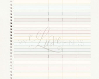 Bill Pay and Expense Tracker - Home Management Folder - Financial Planning - Editable Printable PDF