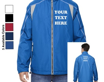 Custom Made Ash City - North End Mens' Venture Lightweight Mini Ottoman Jacket 88167 Vinyl or Glitter Print Customized All Colors VXgUseccrh