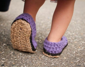 Crochet Pattern - Jute Soles in 14 sizes (Toddler up to Men sizes)
