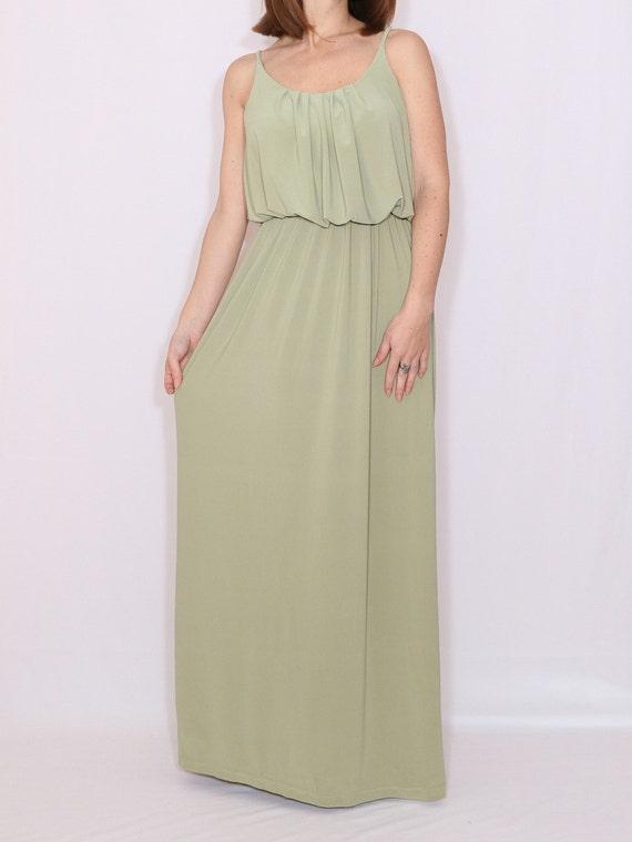 Brautjungfer Kleid Salbei maxikleid Boho Kleid Sommer Prom