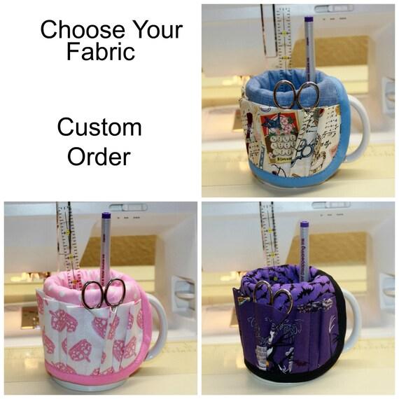 Choose Your Fabric Mug Organizer Caddy