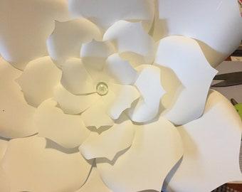 Big white paper flower