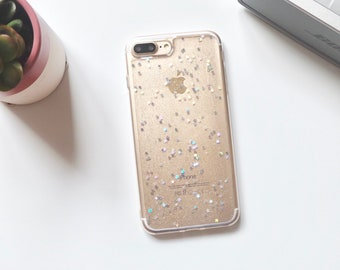 Fast dispatch! Soft silicone star glitter iPhone 7plus 8plus case new design clear tech phone case