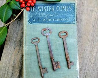 Antique Skeleton Keys ~ Flat Neck Keys - Collection of 3