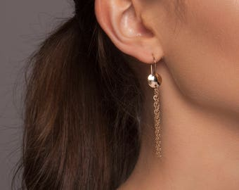 Gold Fringe Earrings, Silver Fringe Earrings, Gold Chain Earrings, Silver Chain Earrings, Gold Boho Earrings, Silver Boho Earrings