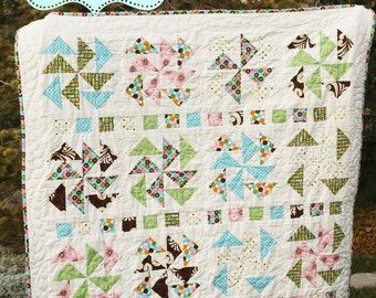 "Quilt Pattern PDF modern simple traditional block ""Gaggle of Geese"""