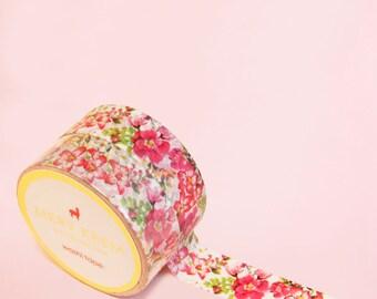 TROPICAL FLOWERS WASHI Tape | Masking Tape | Korean Washi Tape | Scrapbooking | Deco Tape | Scrapbooking | Japanese Tape | Paper Tape | Diy