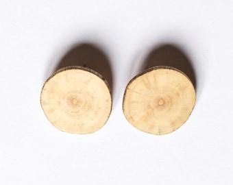 Minimalist Earrings/ Driftwood Earrings / Wood Earrings / Stud Earrings / Hipster Jewelry / Natural Wooden Earrings / Stylish Earrings
