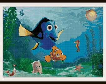 Finding Nemo Cross Stitch Pattern - PDF Download - Finding Dori