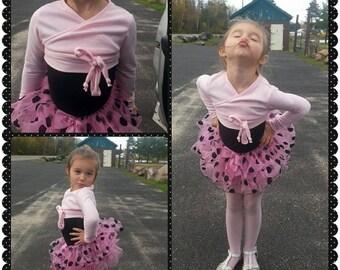 POPPY Ballet Wrap Top- Girls Ballet Top, Faux Ballet Wrap, Kids Ballet Wrap, Girls Ballet Accessories