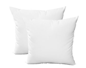 "SET OF 2 Pillow Covers - 17"" Indoor / Outdoor Sunbrella Canvas White Decorative Pillow Covers"