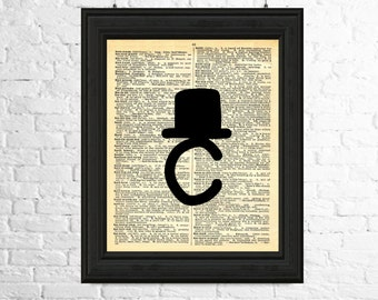 Dictionary Page Art Instant Download - Hipster Alphabet Letter C, Alphabet Art, Letter C Print, Letter C Wall Art, Hipster Art Print
