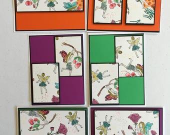 6 Boxed Note Card Set Fairies #2