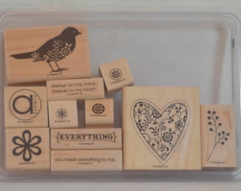 ALWAYS  Retired Stampin Up Wood Mount Stamp Set