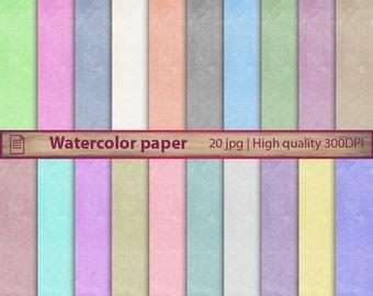 Watercolor digital paper, water colour scrapbooking paper, rainbow paint paper, card making, jpg 300dpi, 12 x 12