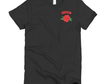 Graybow Rose Short sleeve women's t-shirt