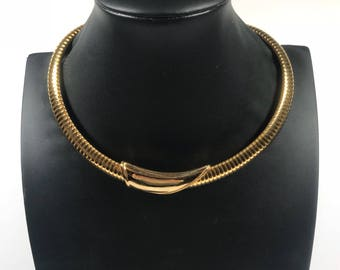 Gold necklace // vintage necklace // 1980s necklace