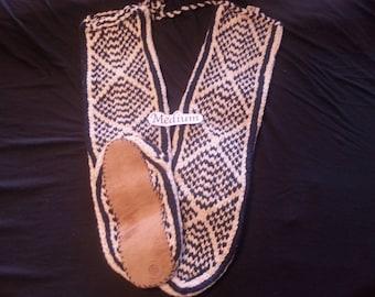 C.) medium Mukluk Handmade Slipper Socks - Suede Leather Soles - Women's size 7.5 to 8/ men's size 5.5 to 6
