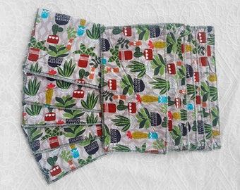 Cactus Design UnPaper Towels ~ Reusable Paper Towels ~ Washable Paperless Towels ~ Half Sheet & Full Sheet Towel Set ~ 2 Ply Very Absorbant