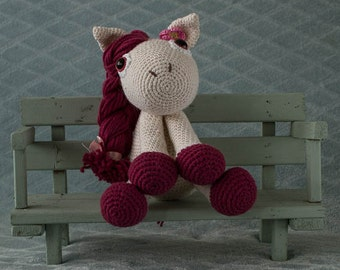 Handmade crochet cuddle toy Horse