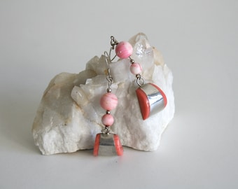 Pink Spiny Oyster Drop Earrings