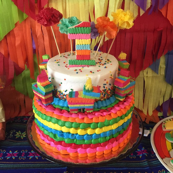 Mini Pinata Cake Topper Cinco de Mayo Fiesta Birthday