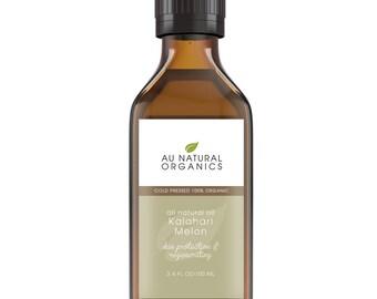 Kalahari Melon Seed Oil – Organic Cold Pressed Carrier Oil – Natural Skin Care – Natural Hair Care – Anti-Aging 3.4oz/ 100ml