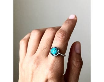 Sterling silver turquoise stackable ring