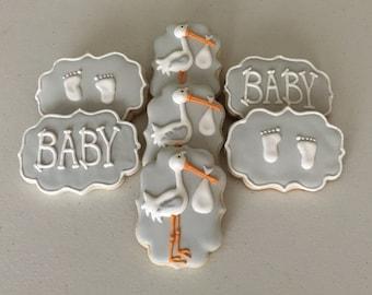 Baby Shower / Stork Sugar Cookies