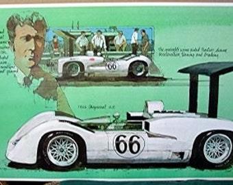 1966 Chaparral 2E Jim Hall Wing Flipper Spoiler Race Car Racing