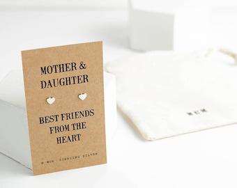 Mother & Daughter Heart Earrings