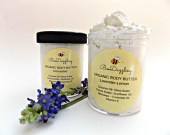 Organic Whipped Shea Body Butter, Mothers Day Gift, Organic Skin Care Body Lotion, Hand Cream, Whipped Body Butter, Teacher Appreciation