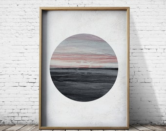 Stone Sunset Print Wall Art Print Geometric Art Geometric Prints Wall Art Prints Modern Prints Geometric Decor