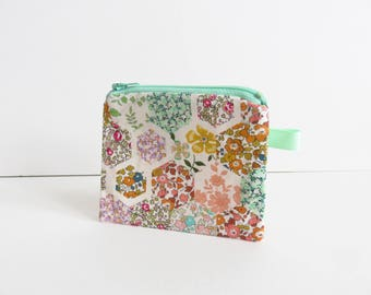 Liberty Lawn 'Patchwork Stories C' Zippered Coin Purse