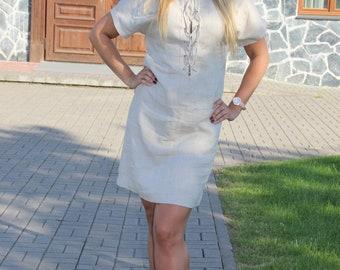 Linen dress,  Flax  dress, Natural linen dress, Linen women clothing,  Summer dress, Stylish summer dress, Organic clothings, Dress